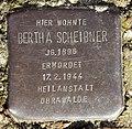 Stolperstein Roswithastr 16 (Hermd) Bertha Scheibner.jpg