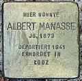 Stolperstein Stierstr 14-15 (Fried) Albert Manasse.jpg