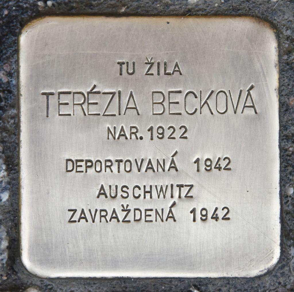 Stolperstein für Terezia Beckova.JPG