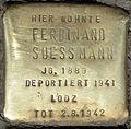Stolpersteine Köln, Ferdinand Suessmann (Aachener Straße 28).jpg