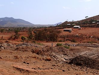 Marsabit - Stone pit right outside the far out town of Marsabit.