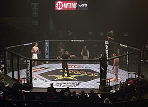 Strikeforce (mixed martial arts) - Two fighters get ready prior to their bout