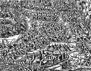 Battle of Morat - The battle of Morat by Johannes Stumpf, 1548