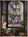 Stundenbuch der Maria von Burgund Wien cod. 1857 Madonna mit Kind in einer Kirche.jpg