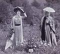 Suffragettes Edith Wheelwright and Lilias Ashworth Hallett 1911.jpg