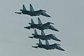 Suhkoi Su-34 Fullback formation - Zhukovsky 2012 (8712622901).jpg