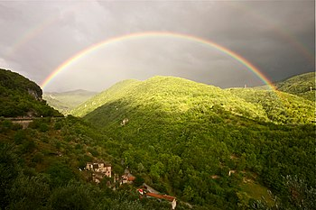 Summer's rainbow at Antrodoco (Italy) (6100628169).jpg