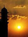 Sunset at Taj mahal.JPG