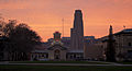 Sunset over Hammerschlag Hall and the Cathedral of Learning.jpg