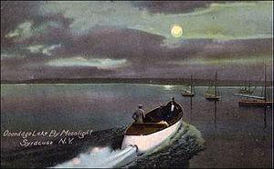 Onondaga Lake - Onondaga Lake motor boat ride by moonlight about 1907