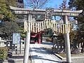Tô-ji Buddhist Temple - Stone torii of Yashima-den.jpg