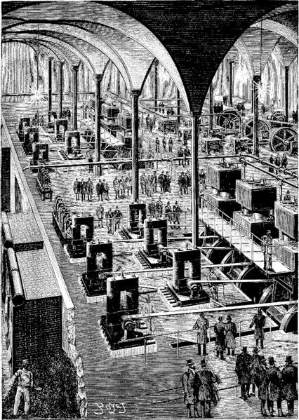 File t6 d453 fig 362 l usine centrale d lectricit des halles de pari - Bazar de l electricite paris ...