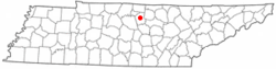 Location of Carthage, Tennessee