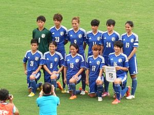 Chinese Taipei women's national football team - Chinese Taipei against Hong Kong at a friendly match on August 30, 2014