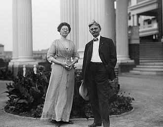 Lois Irene Marshall - Lois Irene Marshall with her husband, Thomas R. Marshall, in Washington, D.C.