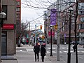 TTC bus 8213 proceeding north on Lower Jarvis, 2014 12 25 (2) (15919730989).jpg