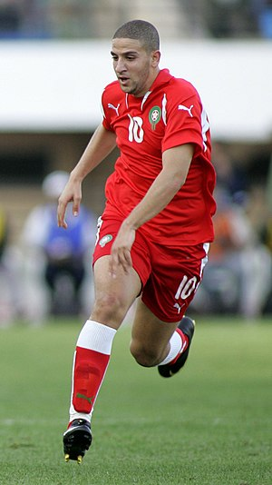 Adel Taarabt - Taarabt playing for Morocco in 2009