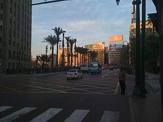 Qasr El Eyni Street - View of Tahrir Square from Qasr El Einy Street.