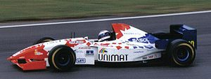 Footwork FA16 - Inoue driving the FA16 at the 1995 British Grand Prix.
