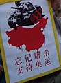 Tank man and bloody China sign detail, Tsim Sha Tsui - 2008 Summer Olympics torch relay in Hong Kong - 2008-05-02 09h23m40s SN207011 (cropped).jpg