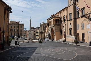 Tarquinia town in Lazio, Italy