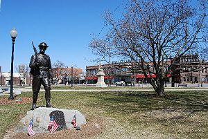 Taunton, Massachusetts - War Memorials on Taunton Green
