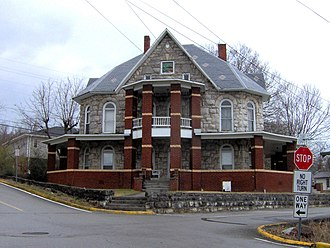 Tazewell, Tennessee - The Buis-Stone house built by Nelson Stone in Tazewell
