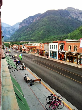 Telluride, Colorado - Colorado Avenue: As seen from The New Sheridan Hotel