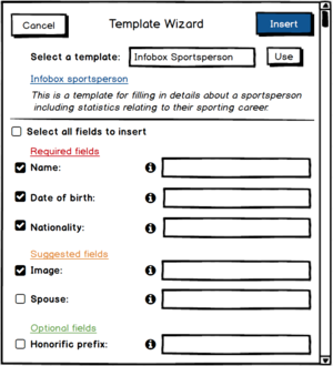 TemplateWizard with checkboxes to pick and choose fields wanted