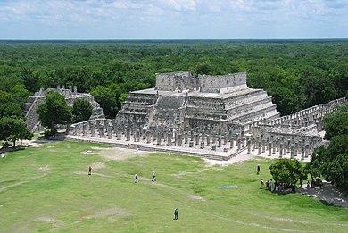 Templo de los guerreros wikipedia la enciclopedia libre for Civilizacion maya arquitectura
