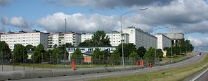 Million Programme - The suburb Tensta in northwestern Stockholm