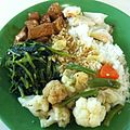 Teochew rice with vegetables, fish cake and tofu -healthy -lunch (8351561669).jpg