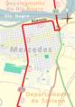 Tercera etapa de la Vuelta Ciclista Chaná 2015. Paso por Mercedes.png