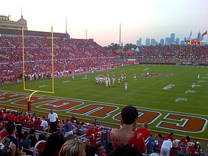 2010 Houston Cougars football team - Houston versus Texas State at a sold-out Robertson Stadium