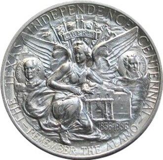 Texas Centennial half dollar - Image: Texas centennial half dollar commemorative reverse