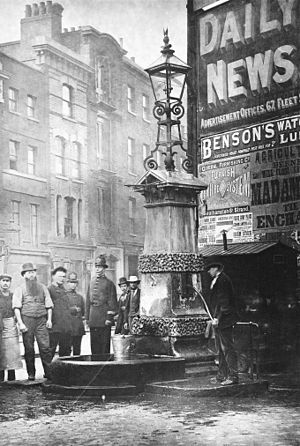 Aldgate Pump - The pump in 1874