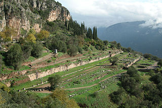 Ancient Gymnasium at Delphi, Greece