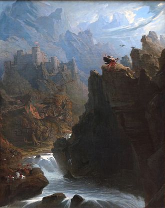 The Bards of Wales - The Bard, by John Martin (1789-1854),  .