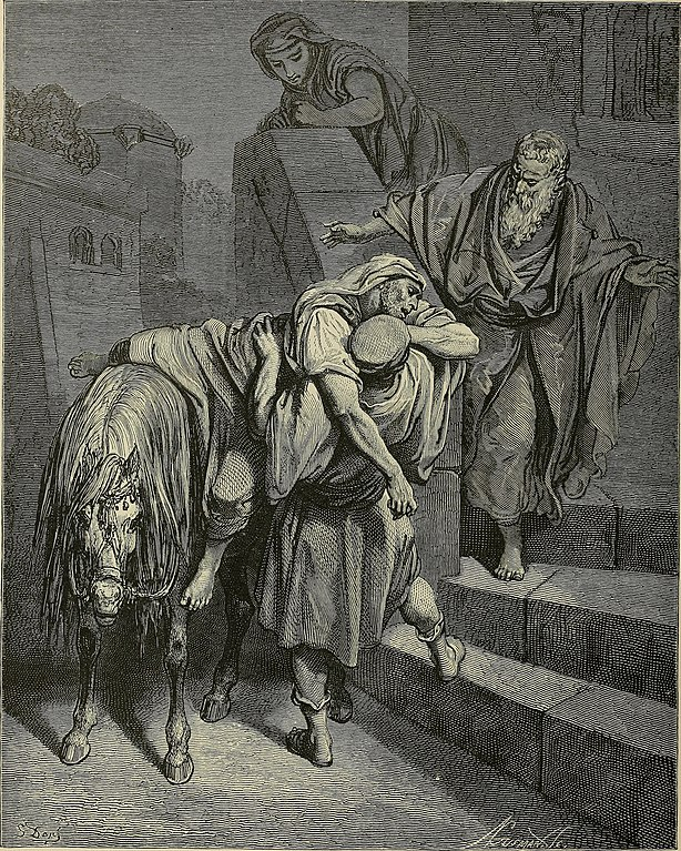자비를 베푼 사마리아 사람(귀스타브 도레, Gustave Dore, 1866년)