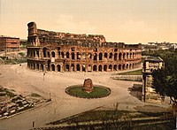 The Colisuem and Meta Sudans, Rome, Italy-LCCN2001700939.jpg
