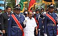 The Defence Minister, Shri A. K. Antony inspects an inter-services guard of honour, at Male, Maldives on September 16, 2012.jpg
