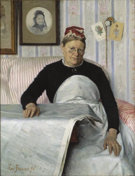 The Housekeeper, Brita Maria (Mussa) Banck (Eva Bonnier) - Nationalmuseum - 40071