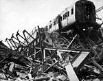 The London Necropolis Railway Station, privately owned station in Westminster Bridge Road, after London's biggest night raid of the war HD-SN-99-02671.jpg