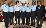 The Marshal of the Indian Air Force (MIAF) Arjan Singh along with the Chief of the Air Staff, Air Chief Marshal Arup Raha.jpg