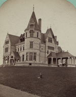 The McGraw-Fiske Mansion, East Hill, University Avenue, Ithaca, N.Y. (W. H. Miller, architect), by Eagles, J. D., 1837-1907 (cropped).png