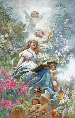 The Muse of Poesie by Konstantin Makovsky