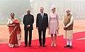 The President, Shri Ram Nath Kovind and the Prime Minister, Shri Narendra Modi at the Ceremonial Reception of King and Queen of Belgium, at Rashtrapati Bhawan, in New Delhi on November 07, 2017.jpg