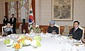 The Prime Minister, Dr. Manmohan Singh and his wife Smt. Gursharan Kaur at the Banquet lunch hosted by the South Korean President, Mr. Lee Myung-bak and his wife Mrs. Kim Yoon-ok, in Seoul on March 25, 2012.jpg