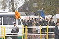 The Prime Minister, Dr. Manmohan Singh flagging off the Srinagar-Muzaffarabad Bus in Srinagar on April 7, 2005 (1).jpg