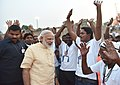 The Prime Minister, Shri Narendra Modi at the Assi Ghat, in Varanasi, Uttar Pradesh on May 01, 2016 (2).jpg